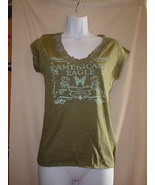 American Eagle Short Sleeve Lace T-Shirt Green NWOT - $18.99
