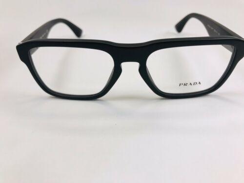 ✴ New Prada VPR 04S 1BO-1O1 Matte Black Eyeglasses 53mm with Prada Case