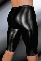 ThunderBox Nylon Spandex Liquid Metal Black Jammer Shorts - Medium - $28.00