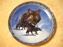 Spirit Of The Wilderness - Ebony Chief Wolf Plate - $14.00