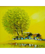 """Morning Sun, 24x26"""" Vietnamese hand painted oil painting - $199.00"""