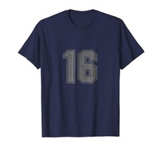 Brother Shirts - Number 16 T-Shirt sixteen Vintage College Tee Design Men - $19.95+