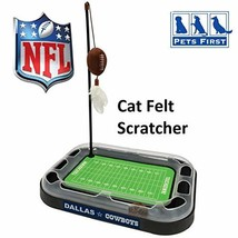 Pets First NFL Dallas Cowboys Football Field CAT Scratcher Toy with Catn... - $23.75
