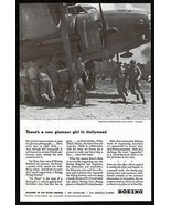 """Boeing Flying Fortress B-17 Hollywood Movie Set """"Air Force"""" 1943 Photo Ad - $14.99"""