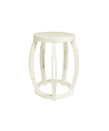 WHITE LACQUER Taboret SOLID WOOD Side or End Table, STOOL, Modern, Chic ... - $299.00