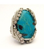 Wire Wrapped Berry Wire Turquoise Sterling Silv... - $200.00