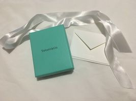 New Authentic Tiffany & Co Empty Jewelry Box w/ Ribbon & Card - €12,05 EUR