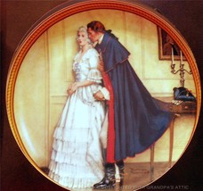 Rockwell's Colonials WORDS OF COMFORT Plate 2 Rockwell's Rarest On Knowl... - $29.95