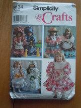 "Simplicity Crafts 18"" Doll Clothes by Faith Van Zanten  Uncut Pattern 8134 - $5.99"