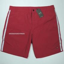 Armani Exchange New Men's Swim Shorts Quick Dry Red / Silver Nwt Retail $69.50 - $36.85