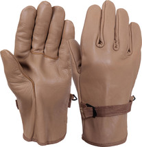 Coyote Brown D-3A Type Flexor Military Leather Gloves - $379,46 MXN