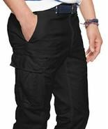 Ralph Lauren Military Stretch SLIM FIT Black Cargo Pants 33X30 - $75.24