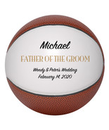 Father of the Groom Mini Basketball Wedding Gift - Personalized Wedding ... - $34.95