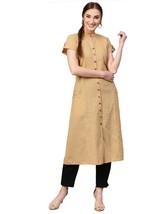 Jaipur Kurti Latest Fashion Top KurtisBeige Solid A-Line Cotton Kurta - €29,24 EUR