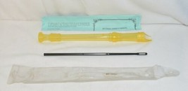 Gill PL106YL Yellow Soprano Recorder Baroque Systems Cleaning Rod And Ma... - $8.99