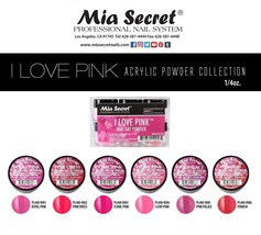 Mia Secret I LOVE PINK Nail Art Powder 1 Color OR All 6 Colors - $6.92+