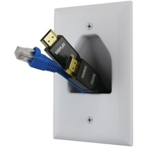 DataComm Electronics 45-0011-WH Midsize 1-Gang Recessed Cable Plate - $21.92
