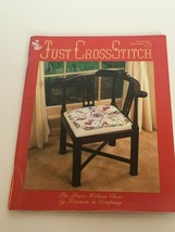 Just Cross Stitch Magazine Patterns Butterfly Snowman House Teddy December 1983 - $10.19