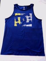 Men's DC Shoes Co. Tank Top Blue & Yellow Size Medium NEW - $19.79