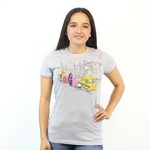 Adventure Time Jake, Finn & Their Friends Taxi Time At NYC Women's Grey ... - $13.99