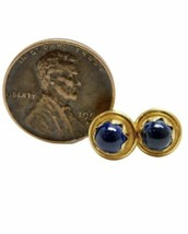 Vintage Tiffany & Co 18K Yellow Gold Star Sapphire Stud Earrings 3.2g image 2