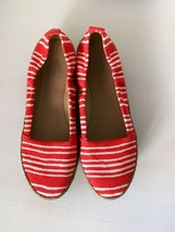 E 360 By Easy Spirit Canvas Slip On Shoes Size 6.5 Striped Spring Summer - $14.52