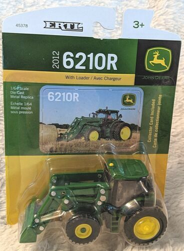 John Deere TBE45378 ERTL 6210R Tractor With Loader Die Cast Metal Replica