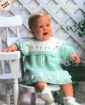 Z656 Crochet PATTERN ONLY Easter Bunny Baby Dress Pattern - $7.50
