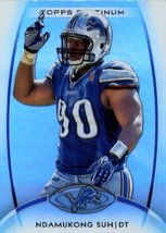 2012 Topps Platinum ENCASED Football Card # 26 Ndamukong Suh Detroit Lions - $0.99