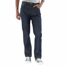 Levi's Men's Shrink To Fit Straight Leg Jeans Button Fly Indigo 501-0000 image 2