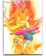 Adventure Time Animated TV Series Fioana Cake Flame Refrigerator Magnet NEW - $3.99