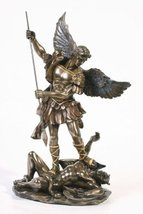 Sale - Archangel St Saint Michael Statue Sculpture Magnificent by Pacifi... - $43.55