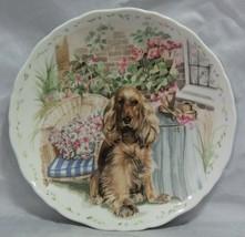 Royal Albert Man's Best Friend Collection Cocker Spaniel Plate - $12.38