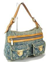 Authentic LOUIS VUITTON Baggy PM Blue Denim Shoulder Tote Bag Purse #34953 image 3