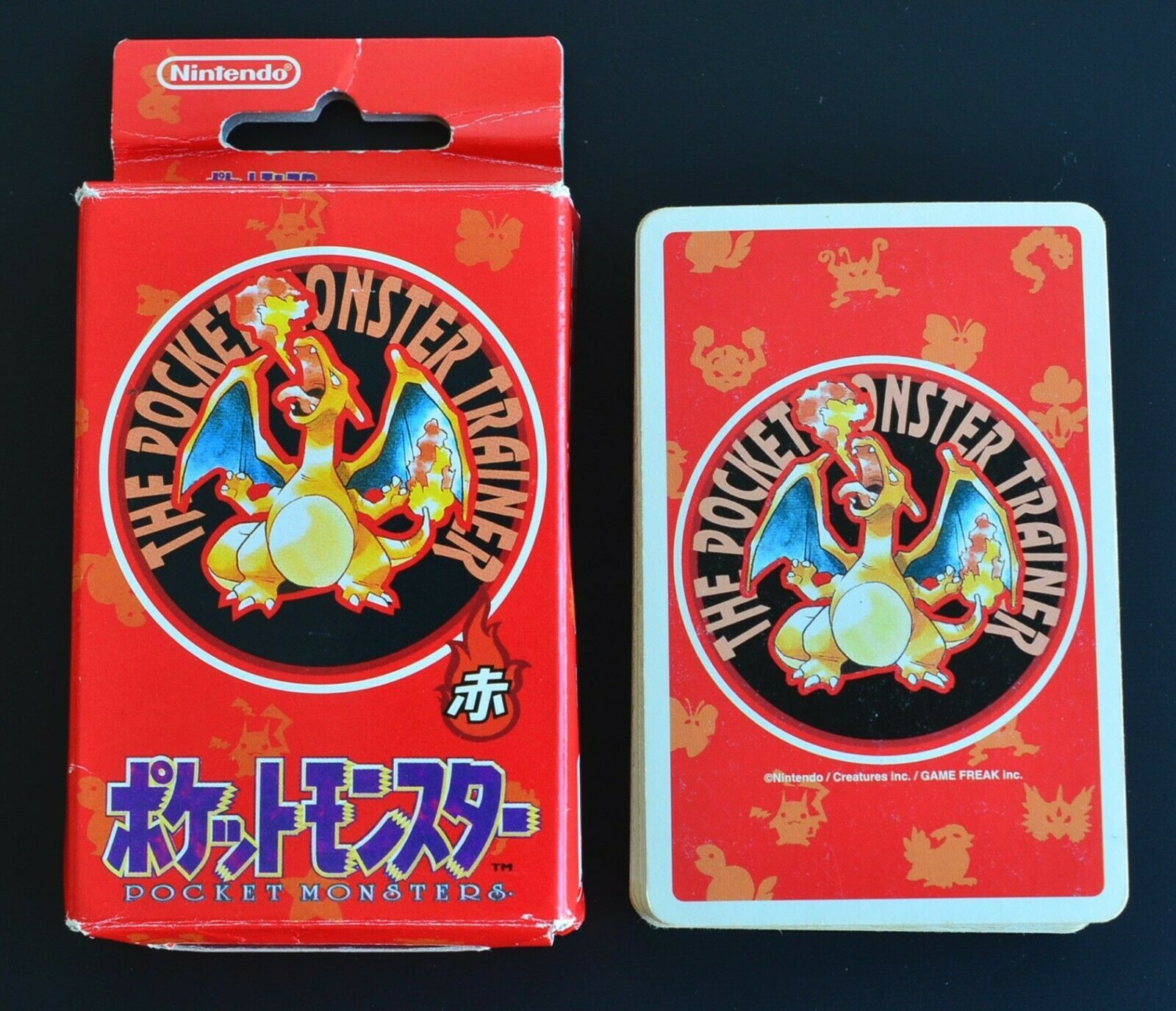 Pokemon Playing Cards Red Very Rare nintendo poker card 1995 Charizard From JP ② - $429.99