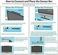 Replacement Wired Infrared IR Ray Motion Sensor Bar Compatible w/Wii and Wii U image 5