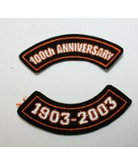 Harley Davidson 100th Anniversary 1903-2005 Small Patches - NEW - $4.94