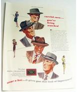 Vintage 1948 Magazine Print Ad - Men's Hats - $10.00