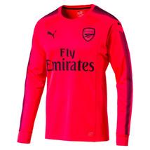 Puma Arsenal Goalkeeper Jersey 2017-2018 Long Sleeve Bright Plasma Size S, L - $75.00