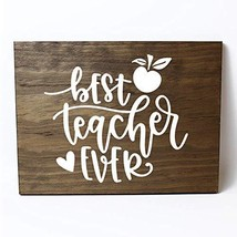 Best Teacher Ever Solid Pine Wood Wall Plaque Sign Home Decor - €30,10 EUR