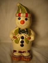 Vaillancourt Folk Art Plaid Snowman on Snowshoes Signed by Judi image 1