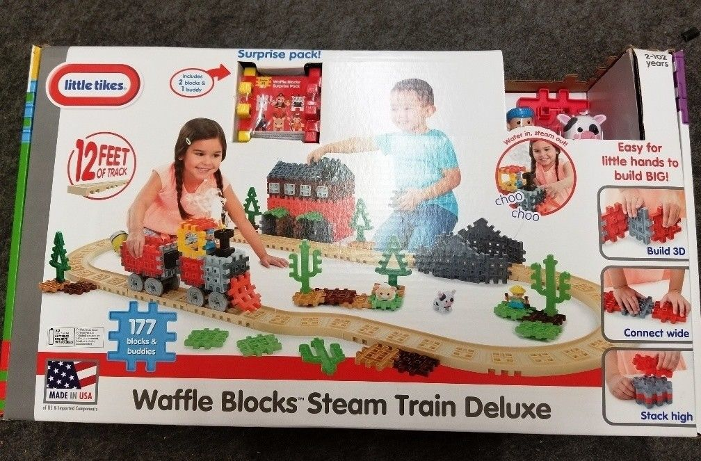 Primary image for Little Tikes Waffle Blocks Steam Train DELUXE - New / Sealed