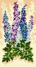 Latch Hook Pattern Chart: READICUT #566 DELPHINIUMS - EMAIL2 - $6.95