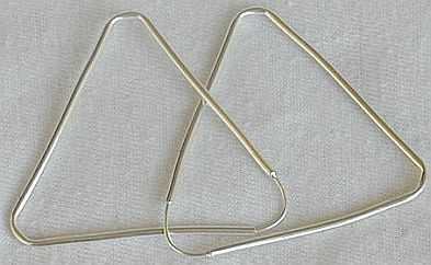 Primary image for Triangle hoop earrings