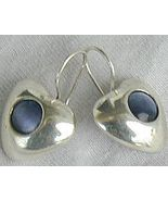 gray -blue hearts earrings - $25.00