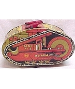 Marx  U.S. Army Tank #3 Windup Wind Up Toy Vintage - $299.95