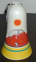 Signed Hand Painted Ceramic Southwest Bell Yellow - $7.00