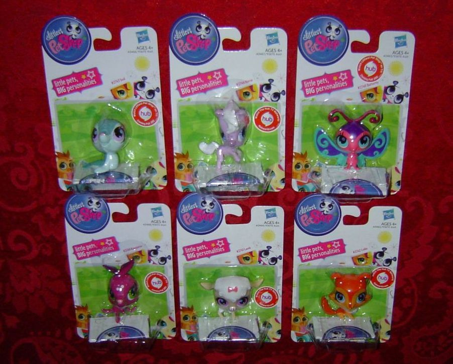 Littlest Pet Shop singles lot Seal Horse Butterfly Kangaroo Lamb Collie Hasbro