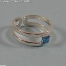 Toe Ring with Blue Crystal - $13.99