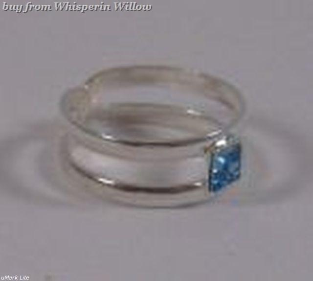 Toe Ring with Blue Crystal